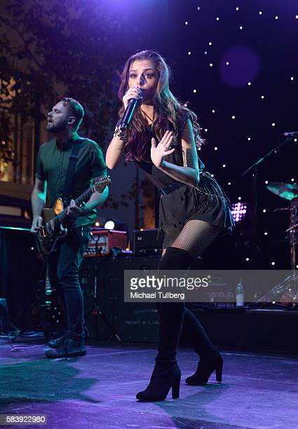 Singer Cher Lloyd performs at The Grove on July 27 2016 in Los Angeles California