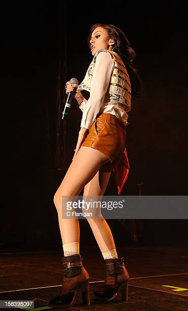 Singer Cher Lloyd performs during the Now 997 Triple Ho Ball at HP Pavilion on December 14 2012 in San Jose California