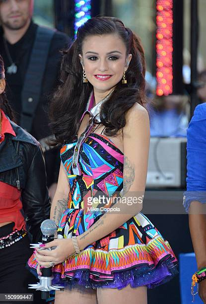 Singer Cher Lloyd performs on NBC's 'Today' at Rockefeller Plaza on August 30 2012 in New York City