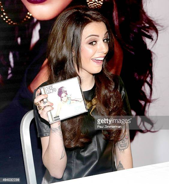 Singer Cher Lloyd promotes the new CD 'Sorry I'm Late' at the NBC Experience Store on May 27 2014 in New York City