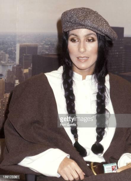 Singer Cher on September 23 1977 visits The Stanley Siegel Show at ABC Studios in New York City
