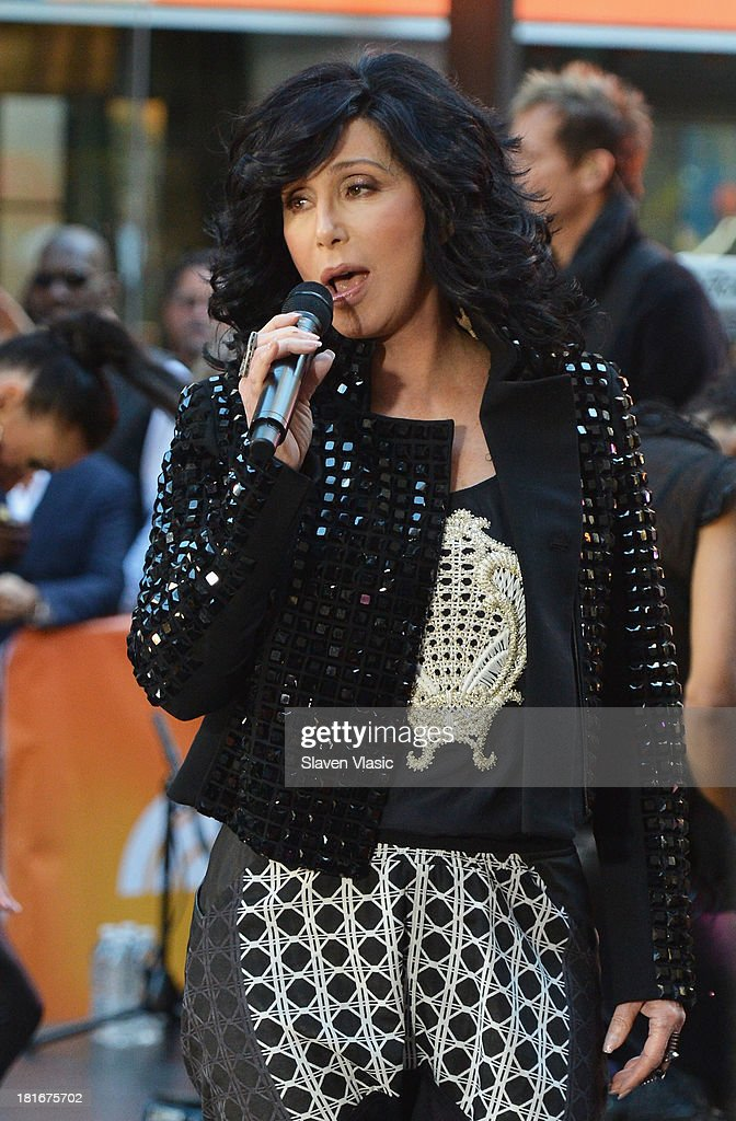 Singer Cher peforms on NBC's 'Today' at NBC's TODAY Show on September 23, 2013 in New York City.