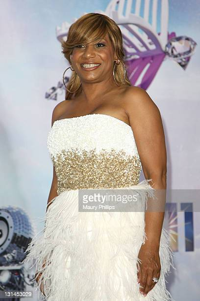 Singer Cherelle poses in the press room at the BET Awards '11 held at The Shrine Auditorium on June 26, 2011 in Los Angeles, California.