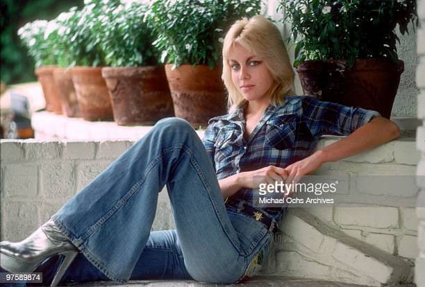 Singer Cherie Currie of the rock band 'The Runaways' poses for a portrait in Los Angeles California in August 1977
