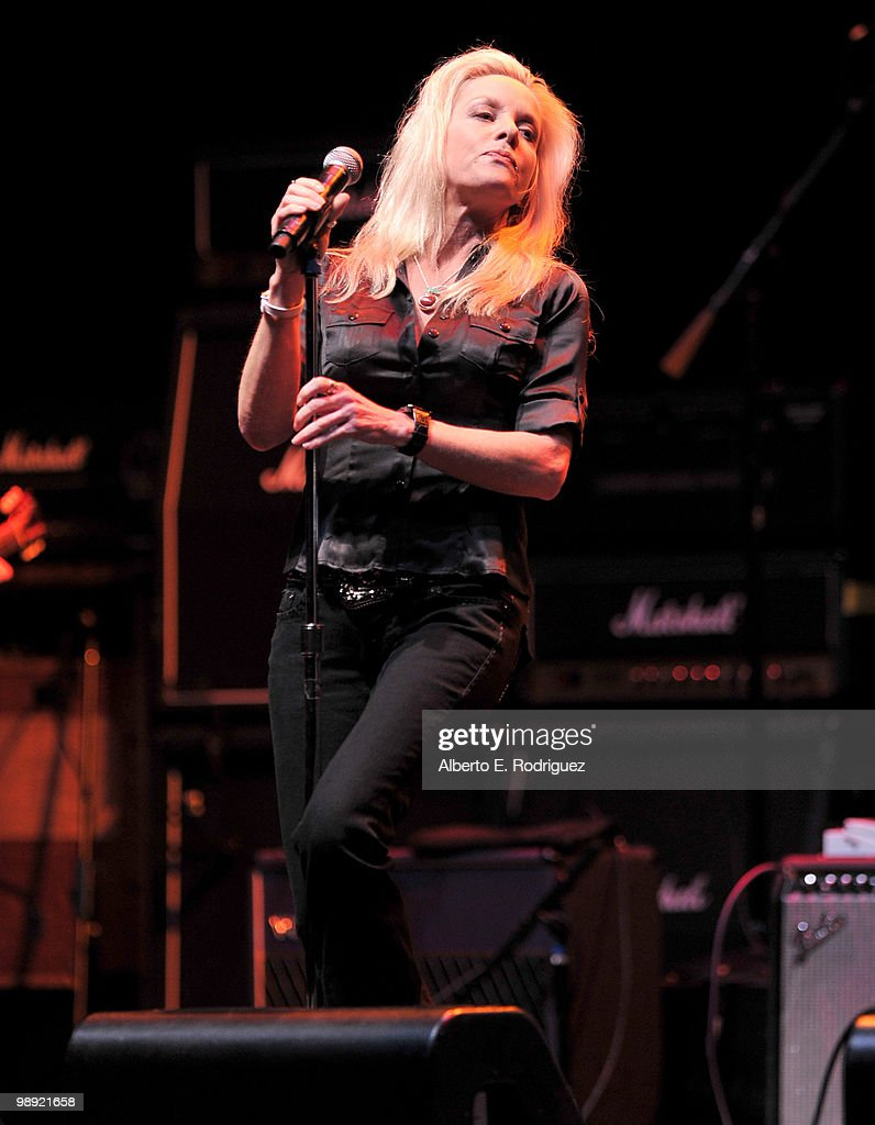 Singer Cherie Currie performs at the 6th Annual MusiCares MAP Fund Benefit Concert at Club Nokia on May 7, 2010 in Los Angeles, California.