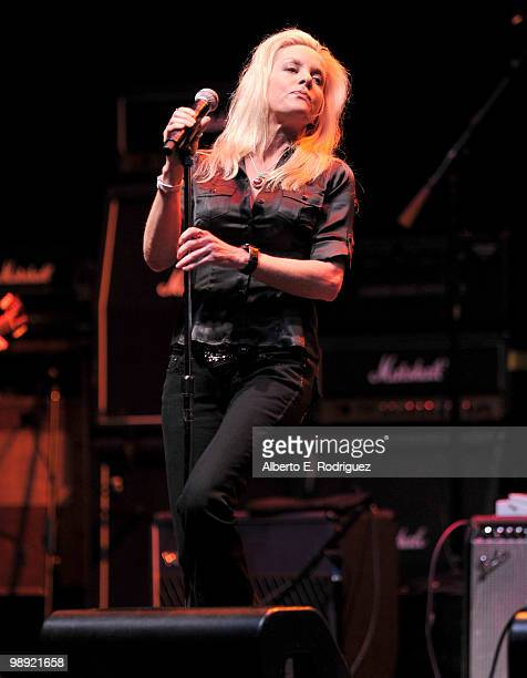 Singer Cherie Currie performs at the 6th Annual MusiCares MAP Fund Benefit Concert at Club Nokia on May 7 2010 in Los Angeles California