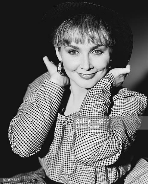 Singer Cheryl Baker of British pop group Bucks Fizz 1987