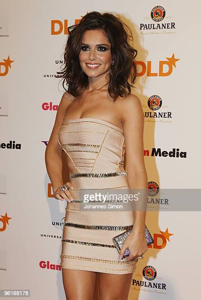Singer Cheryl Cole arrives for the DLD Starnight at Haus der Kunst on January 25 2010 in Munich Germany