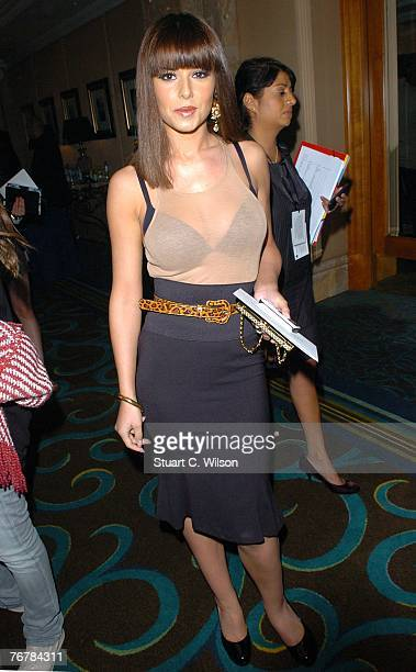 Singer Cheryl Cole attends the Julien Macdonald show as part of London Fashion Week at the Hilton Park Lane September 16 2007 in London England