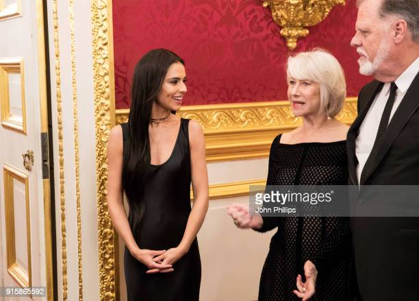 Singer Cheryl Tweedy actress Dame Helen Mirren and director Taylor Hackford attend the Prince's Trust 'Invest in Futures' predinner reception...