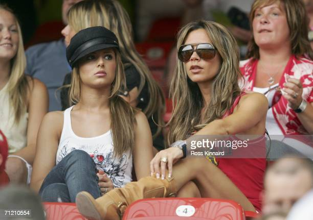 Singer Cheryl Tweedy girlfriend of Ashley Cole and Victoria Beckham wife of England Captain David Beckham attend the FIFA World Cup Germany 2006...