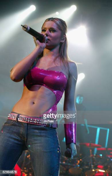 Singer Cheryl Tweedy of Girls Aloud performs at their wrap up concert of their first ever UK tour with London date at Carling Apollo Hammersmith on...