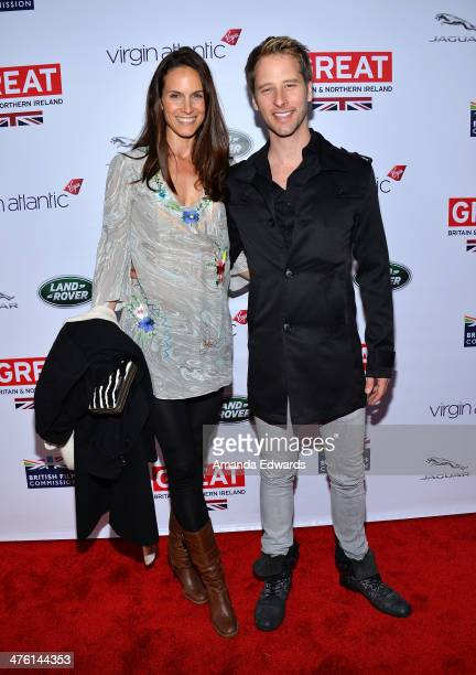 Singer Chesney Hawkes and his wife Kristina Hawkes arrive at the GREAT British Film Reception honoring the British nominees of The 86th Annual...