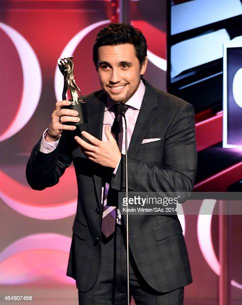 Singer Chester See accepts the Original Song award onstage during the 4th Annual Streamy Awards presented by CocaCola on September 7 2014 in Beverly...