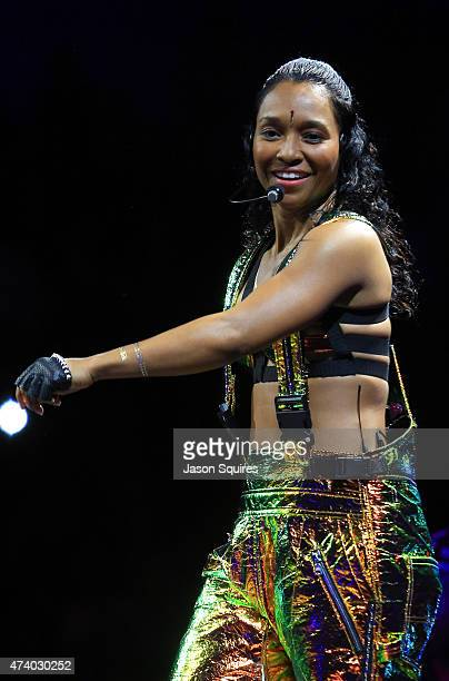 Singer Chilli of TLC performs at Sprint Center on May 19 2015 in Kansas City Missouri