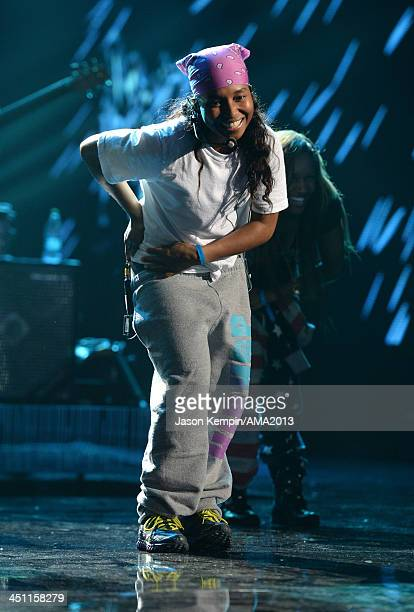 Singer Chilli of TLC performs onstage during rehearsals for the 2013 American Music Awards at Nokia Theatre LA Live on November 21 2013 in Los...