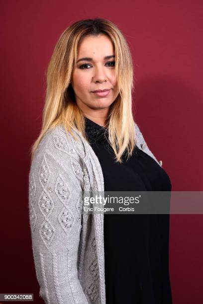 Singer Chimene Badi poses during a portrait session in Paris France on