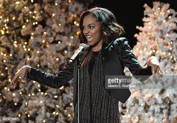 Singer China Anne McClain performs at the 82nd Annual Hollywood Christmas Parade on December 1 2013 in Hollywood California