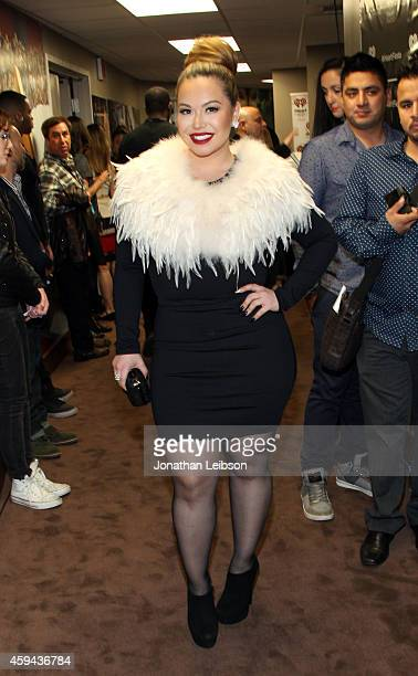 Singer Chiquis Rivera backstage during the iHeartRadio Fiesta Latina festival presented by Sprint at The Forum on November 22 2014 in Inglewood...