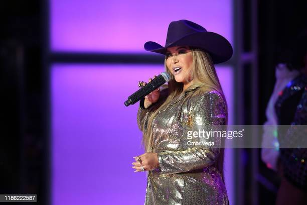 Singer Chiquis Rivera performs on stage during The Premios de la Radio 2019 at Verizon Theater on November 7 2019 in Grand Prairie Texas