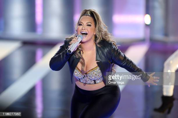 Singer Chiquis Rivera performs on stage during the Premios de la Radio 2019 at Verizon Theater on November 7, 2019 in Grand Prairie, Texas.