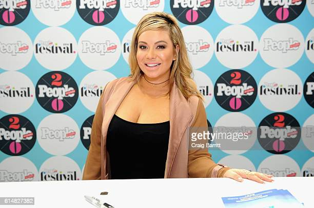Singer Chiquis Rivera poses backstage during the 5th Annual Festival PEOPLE En Espanol Day 1 at the Jacob Javitz Center on October 15 2016 in New...