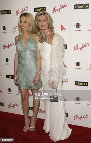 Singer Chloe Lattanzi and mother actress/singer Olivia NewtonJohn arrive at the Penfolds Icon Gala presented by G'Day La Australia Week 2006 at the...