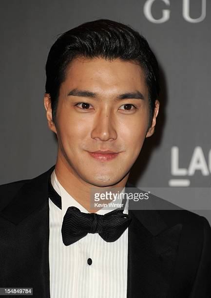Singer Choi Si Won arrives at LACMA 2012 Art Film Gala at LACMA on October 27 2012 in Los Angeles California