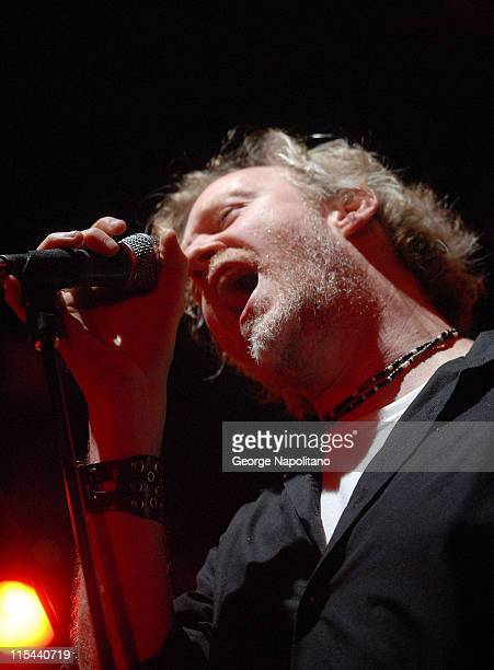 Singer Chris Barron of Spin Doctors performs at HeadCount's Get Out The Vote party at Highline Ballroom on November 3 2008 in New York City