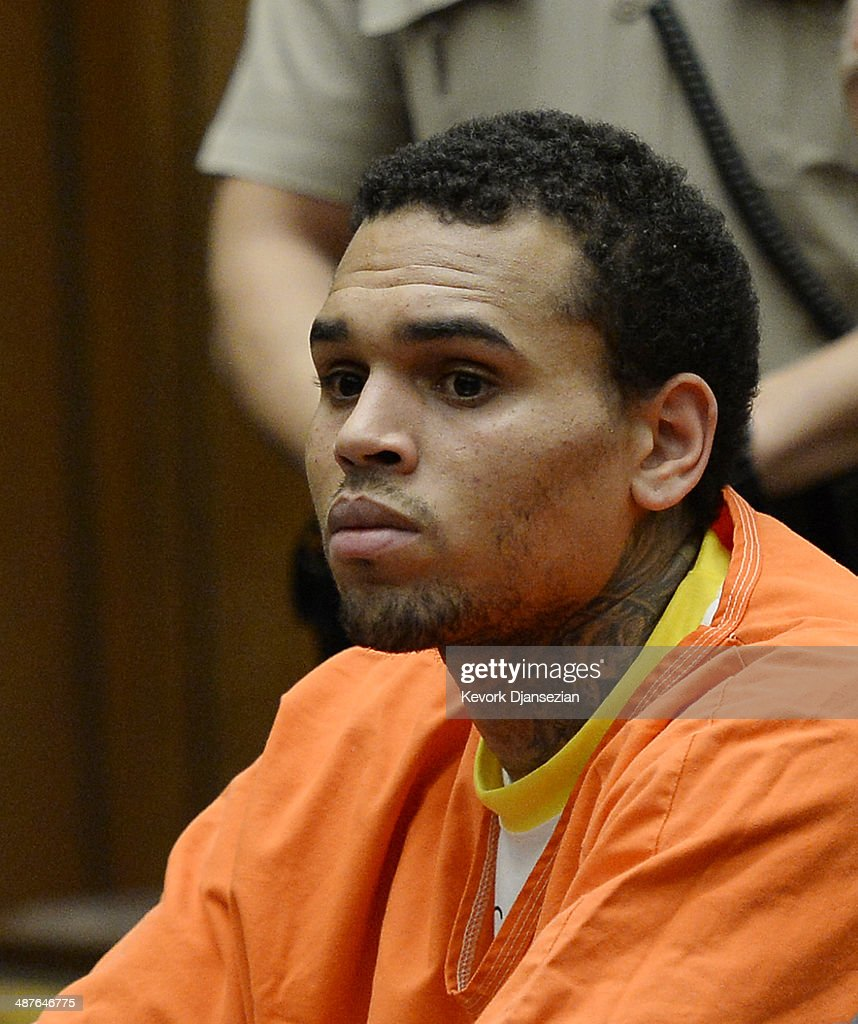 Chris Brown Court Hearing : News Photo