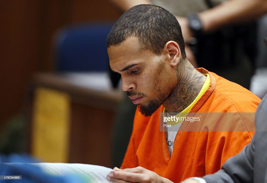 Chris Brown Court Appearance : News Photo