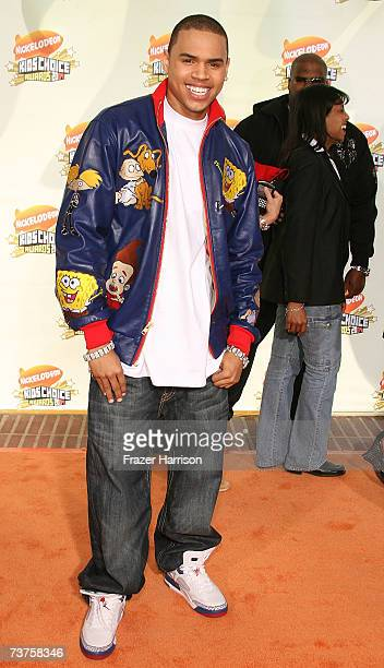Singer Chris Brown arrives at the 20th Annual Kid's Choice Awards held at the UCLA Pauley Pavilion on March 31 2007 in Westwood California