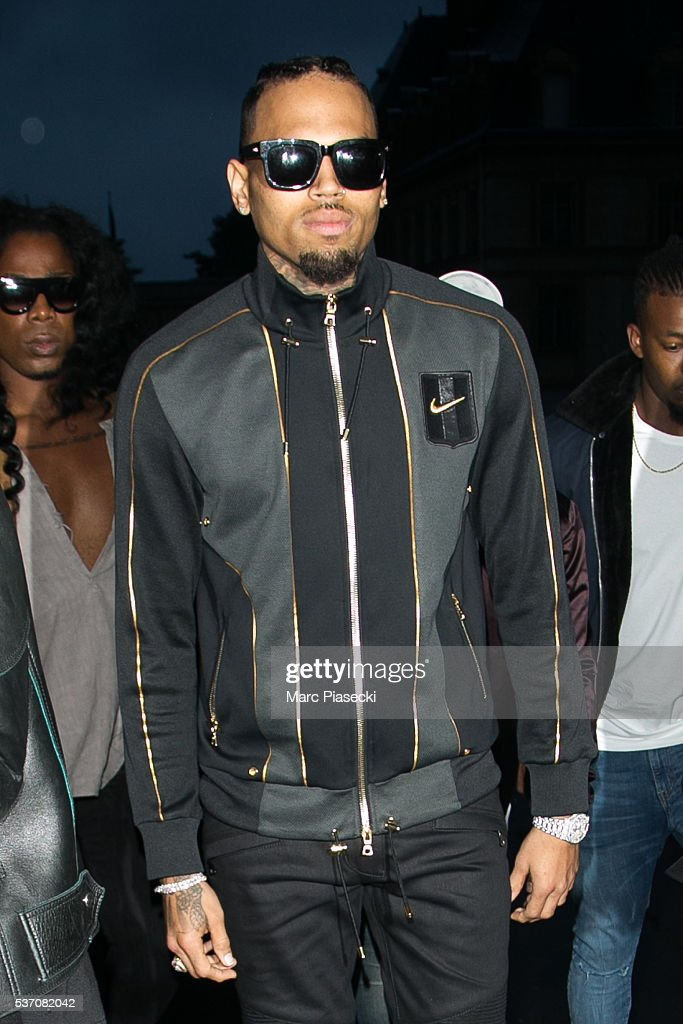 Singer Chris Brown attends NikeLab X Olivier Rousteing Football Nouveau Collection Launch Party at Cite Universitaire on June 1, 2016 in Paris, France.