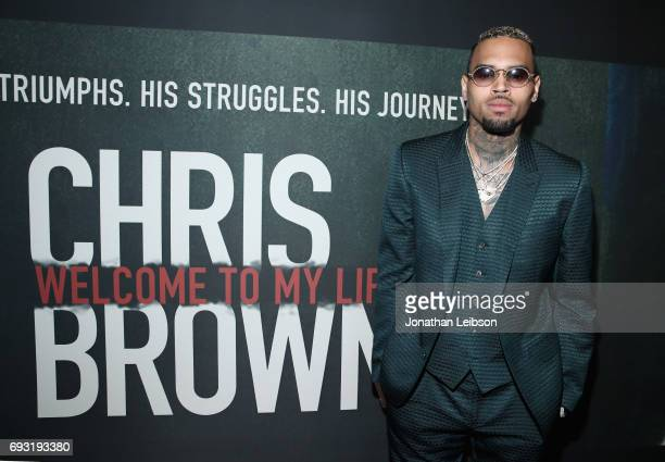Singer Chris Brown attends the Premiere of Riveting Entertainment's 'Chris Brown Welcome To My Life' at LA LIVE on June 6 2017 in Los Angeles...