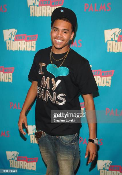 """Singer Chris Brown during MTV's """"TRL"""" announcing the nominations for the 2007 MTV Video Music Awards at MTV Studios in Times Square on August 7, 2007..."""