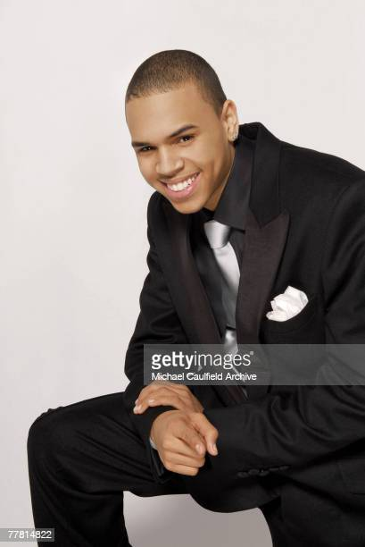 Singer Chris Brown is photographed at the 37th Annual NAACP Image Awards on February 25 2005 at the Shrine Auditorium in Los Angeles California