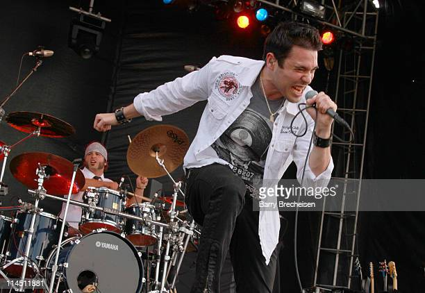 Singer Chris Brown of Trapt performs during the 2011 Rock On The Range festival at Crew Stadium on May 22 2011 in Columbus Ohio