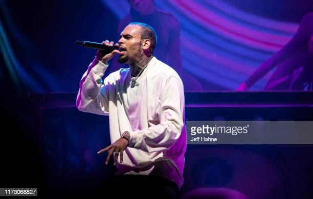 Singer Chris Brown performs at Spectrum Center on September 07 2019 in Charlotte North Carolina