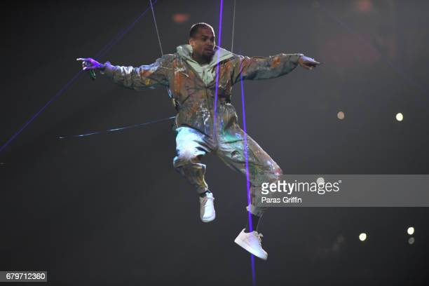 Singer Chris Brown performs onstage at Philips Arena on May 2 2017 in Atlanta Georgia