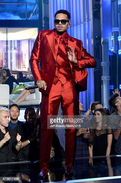 Singer Chris Brown performs onstage during the 2015 Billboard Music Awards at MGM Grand Garden Arena on May 17 2015 in Las Vegas Nevada