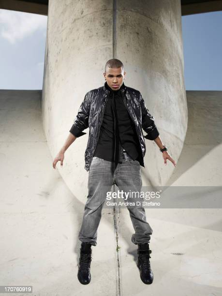 Singer Chris Brown photographed for Ebony Magazine on March 12 2008 in Los Angeles California