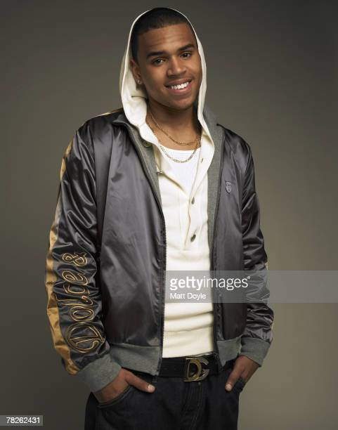Singer Chris Brown poses at a portrait session in New York