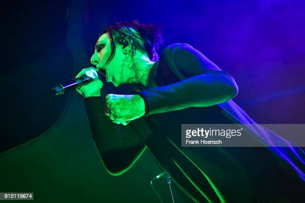 Singer Chris Cerulli of the American band Motionless in White performs live on stage during a concert at the Columbia Theater on February 6 2018 in...