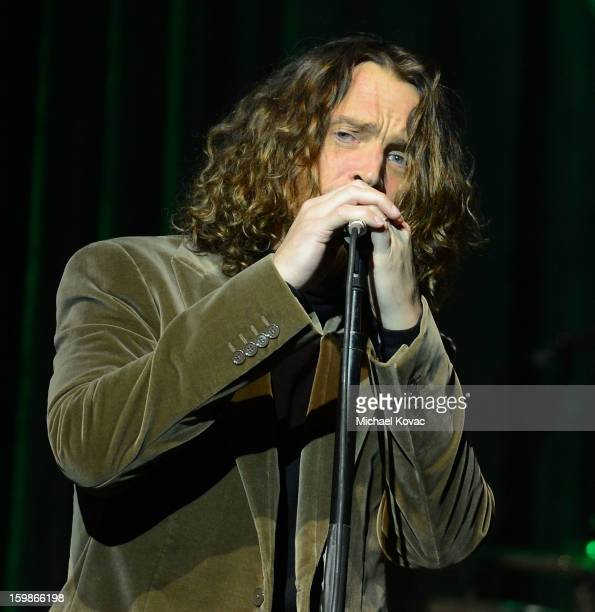 Singer Chris Cornell of band Soundgarden performs onstage at The Inaugural Ball at the Walter E Washington Convention Center on January 21 2013 in...