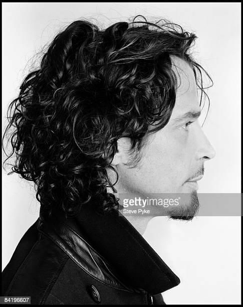 Singer Chris Cornell poses at a portrait session in Los Angeles CA