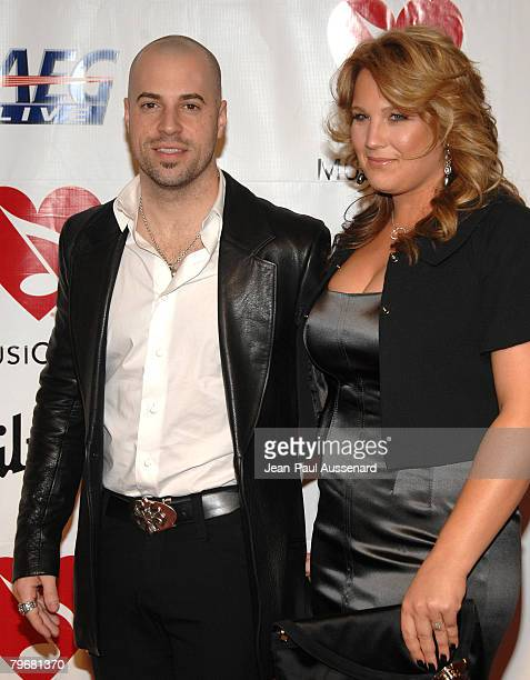 Singer Chris Daughtry and his wife Deanna Daughtry arrive at the 2008 MusiCares Person of the Year gala honoring Aretha Franklin held at the Los...