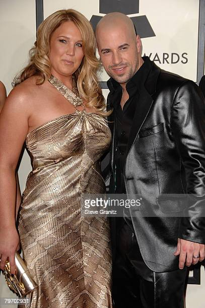 Singer Chris Daughtry and wife Deanna arrive to the 50th Annual GRAMMY Awards at the Staples Center on February 10 2008 in Los Angeles California
