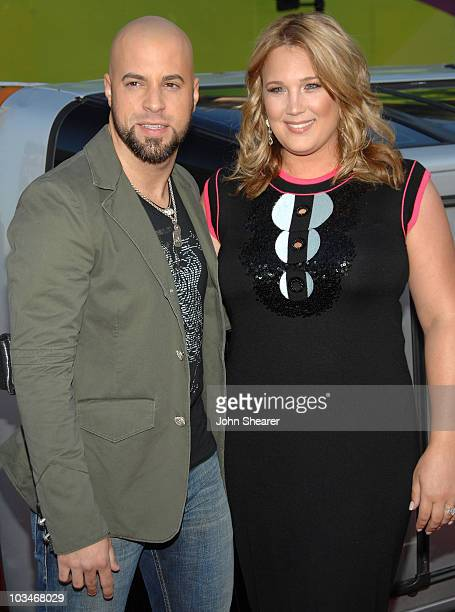 Singer Chris Daughtry and wife Deanna arrive to The World Premiere of Columbia Pictures' Hancock at the Grauman's Chinese Theatre on June 30 2008 in...