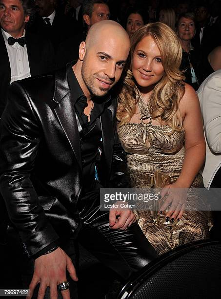 LOS ANGELES CA FEBRUARY 10 Singer Chris Daughtry and wife Deanna at the 50th Annual GRAMMY Awards at the Staples Center on February 10 2008 in Los...