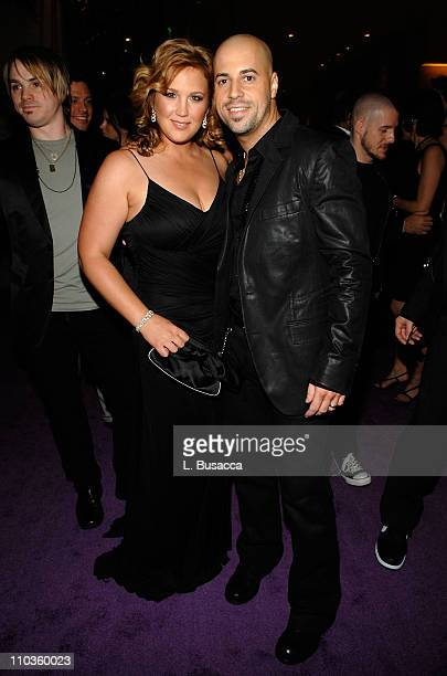 Singer Chris Daughtry and wife Deanna attend the 2008 Clive Davis PreGRAMMY party at the Beverly Hilton Hotel on February 9 2008 in Los Angeles...